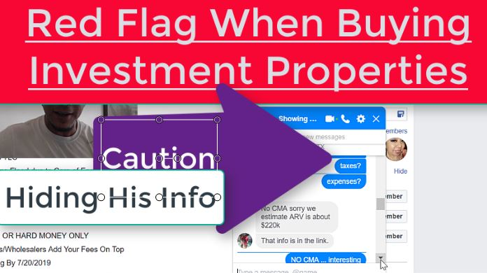 Caution when buying investment properties / wholesale real