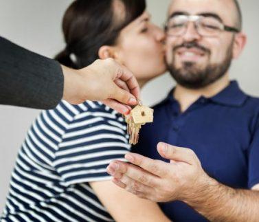 Couple buy new house