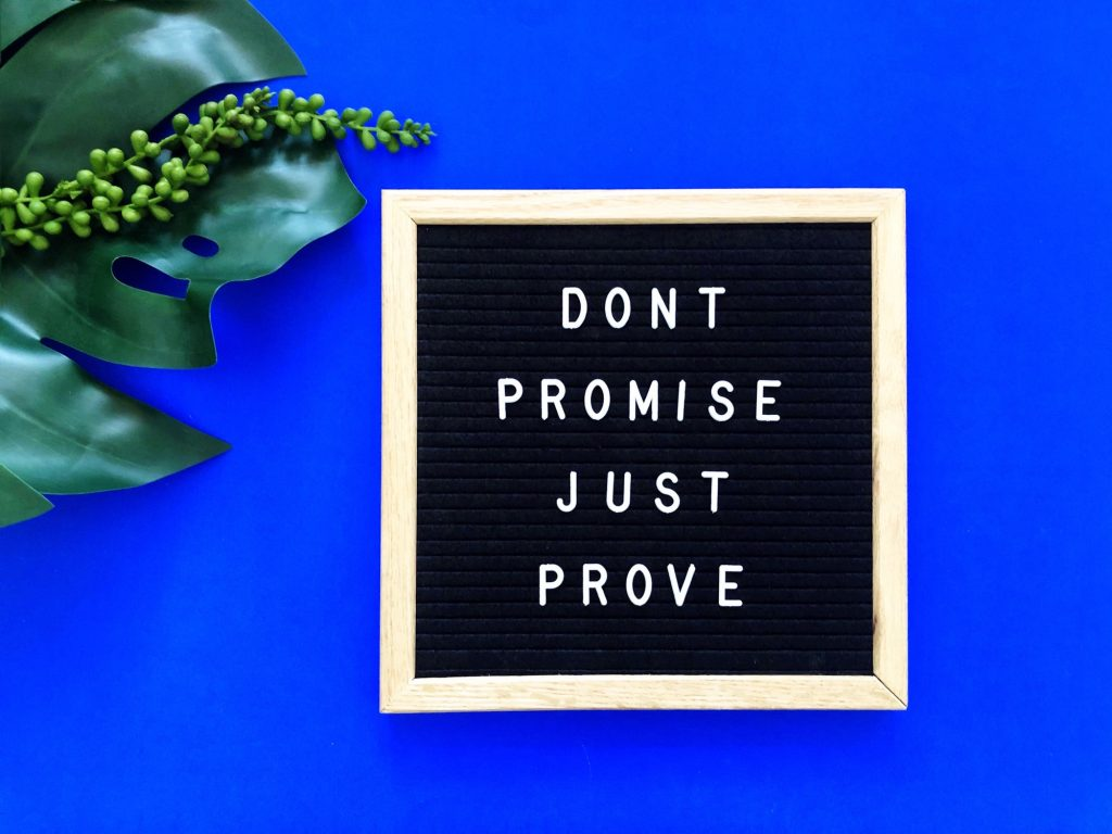 Don't promise